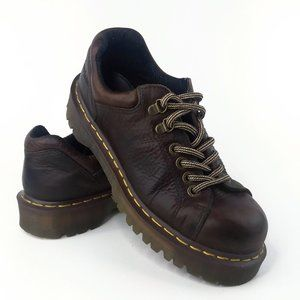 Dr Martens Brown Leather Work Oxfords Womens 9